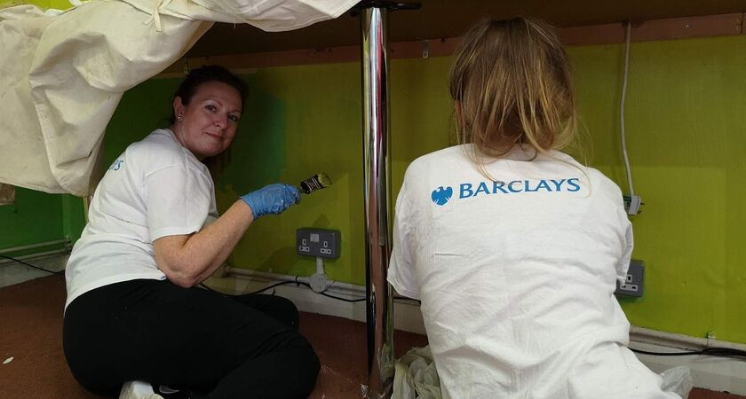 Ken Boyce Centre Barclays volunteering Painting Green