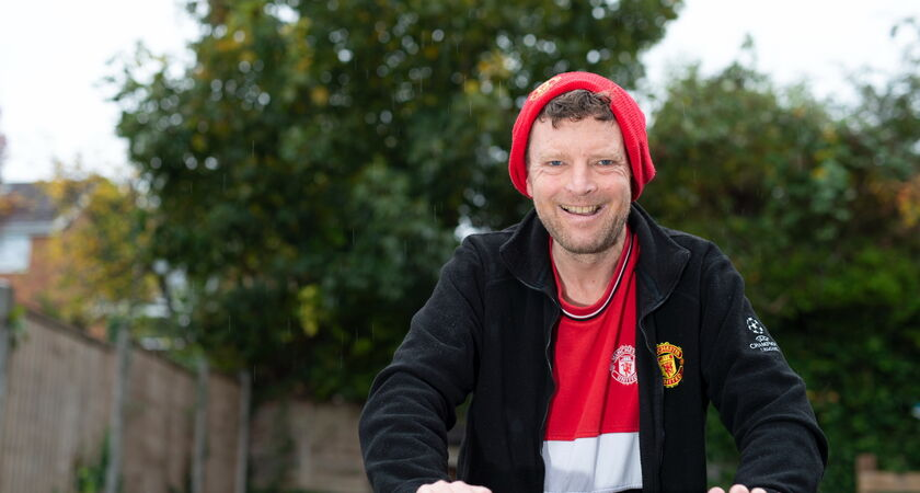 PWS Paul Outside Man U supporter