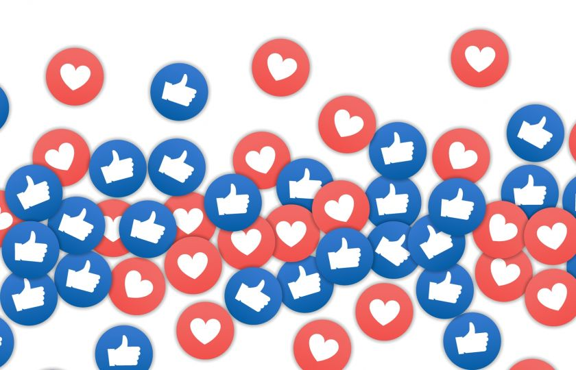 Stock photo Hearts And Likes Social Media Converted